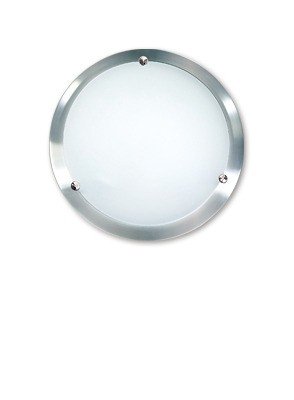 Solo Oyster Wall / Ceiling Light in Satin Chrome Sunny Lighting