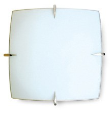 Spur Oyster Wall / Ceiling Light in Satin Chrome Sunny Lighting