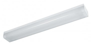 Squareline Double Batten Two Light Strip Light in Powder Coated Sunny Lighting