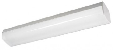 Vermont 1 Light Opal Diffused Batten Strip Light in Powder Coated Sunny Lighting