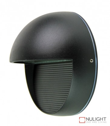 Vargo Round Led Wall Light Black ORI