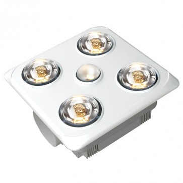 Brook 4 High Airflow Bathroom Heat Lamp and Exhaust Fan VentAir