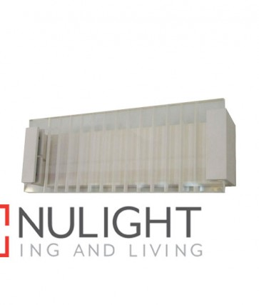 WALL INTERNAL Surface Mounted CITY LED MATT White Rectangular with Clear / Frost Ribbed Diffuser 12W 120D 3000K (803 Lumens) CLA