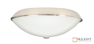 210mm Oyster Light - 1 x E27 Lamp Holder - Brushed Chrome VTA