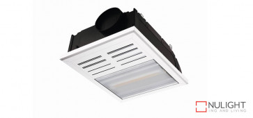 REGENT 2 in 1 - Bathroom Heater with side ducted exhaust fan and 1 x 800watt Infrared Heat Lamp - White VTA