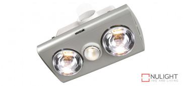 KLEIN 2 - Budget 2 Light 3 in 1 Bathroom Heat Exhaust - side duct - R63 60watt Incandescent Globe - Silver VTA