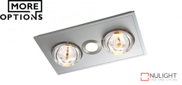 MYKA 2 - Slimline 3 in 1 with 2 x 275w Infrared Heat Lamps, 10W LED Downlight and side ducted exhaust VTA