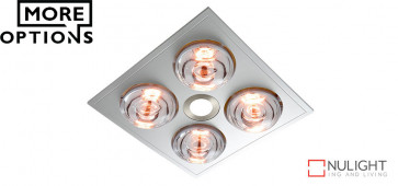 MYKA 4 - Slimline 3 in 1 with 4 x 275w Infrared Heat Lamps, 10W LED Downlight and side ducted exhaust VTA