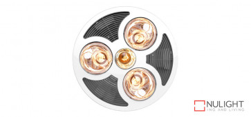 STEAMPRO - Round 3in1 High Air Extraction Exhaust, 3 Heat Lamps and 6w LED Light VTA