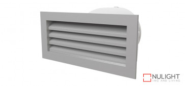 150mm Premium Exterior Aluminium Vent with duct adapter (fits standard brick size) VTA