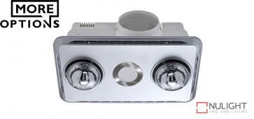BROOK - 2 Light 3in1 Bathroom Heat Exhaust - side ducted VTA