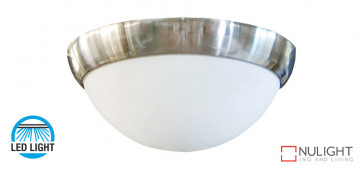 15w LED Oyster Light, 1400-1500Lm, 4200K Natural White  - Silver - To suite Harmony Ceiling Fans only VTA