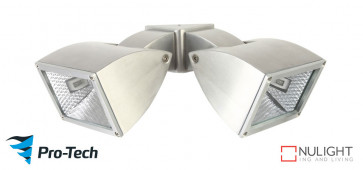 WEDGE - 2 Light Floodlight in Satin Chrome VTA