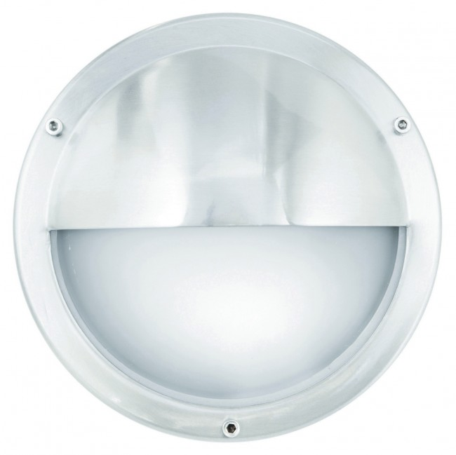 Lighting Australia Plymouth Round Exterior Wall Bunker Light with Eyelid in Stainless Steel ...