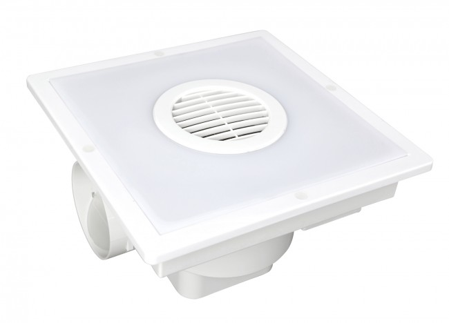 Lighting Australia Taranto Square Exhaust Fan With Light Brilliant Lighting