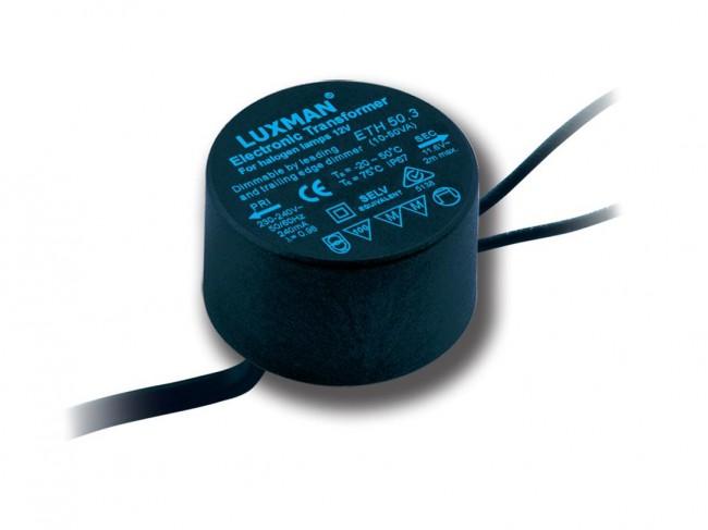 lighting australia 12v 50va round water proof electronic transformer