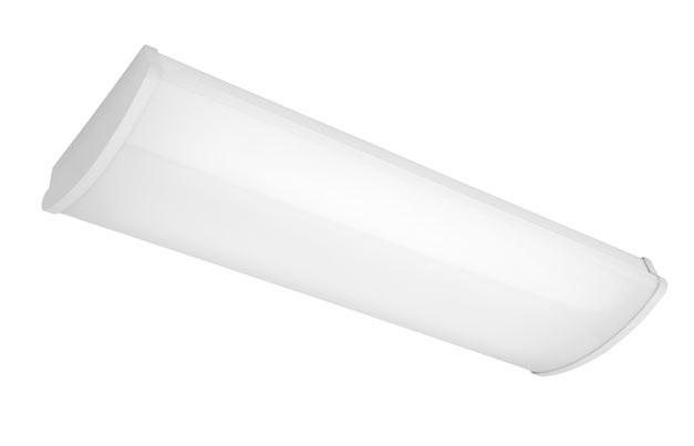 Avenger 2 x 14W T5 Fluoro Small Strip Light in White Cougar