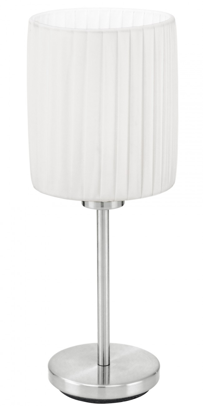 Blickfang Nickel Matt Ideen Von Fortuna 1 Light Table Lamp In Eglo