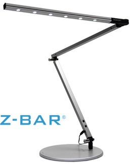 lighting australia gen 2 z bar led desk lamp in metallic black. Black Bedroom Furniture Sets. Home Design Ideas