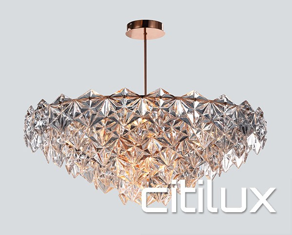 Lighting Australia Georgina 9 Lights Pendant Rose Gold