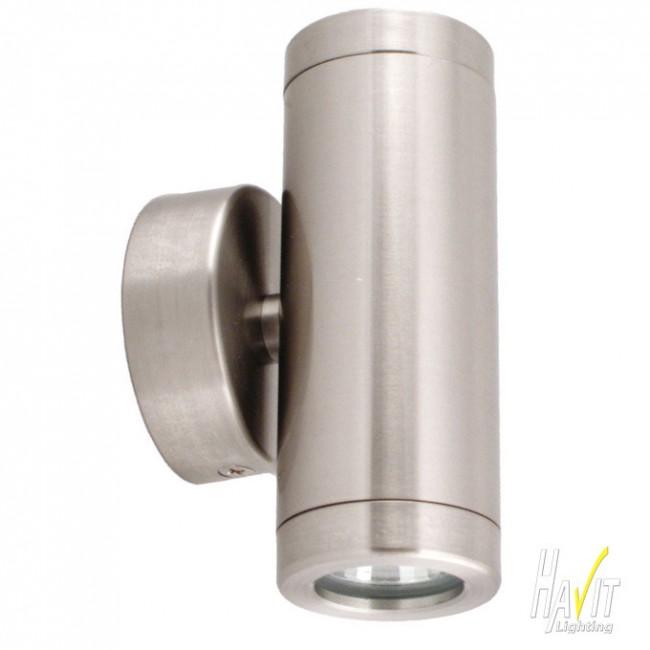 12v Led Mini Outdoor Up Down Wall Pillar Light In Stainless Steel Havit