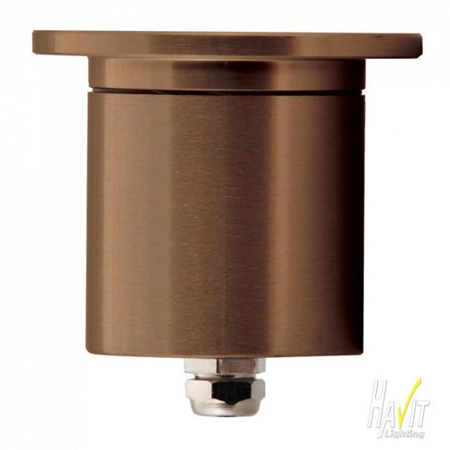Lighting Australia 12v LED Recessed Wall / Step Light in Solid Copper Cover Havit - NULighting ...