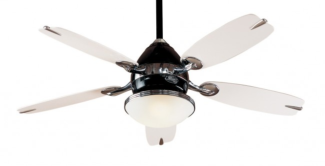 Lighting australia the retro ceiling five blade ceiling fan in the retro ceiling five blade ceiling fan in black with chrome accents hunter fans mozeypictures Gallery