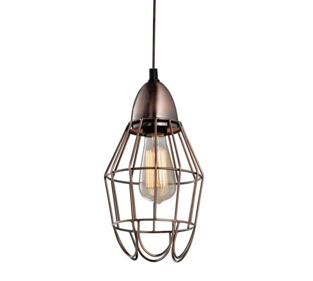 Industrial Pendant Light Australia: Industrial Copper Wire Cage Pendant