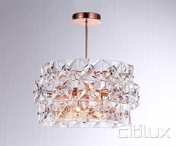 Lighting Australia Inessa 4 Lights Pendant Rose Gold Citilux Nulighting Com Au