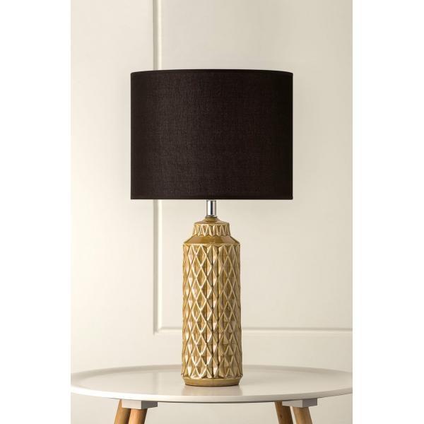 1037 Cadman Vintage Mustard Ceramic Table Lamp