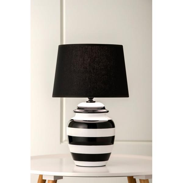 Lighting Australia 924 Pepper Black And White Stripe Table Lamp Nulighting Com Au