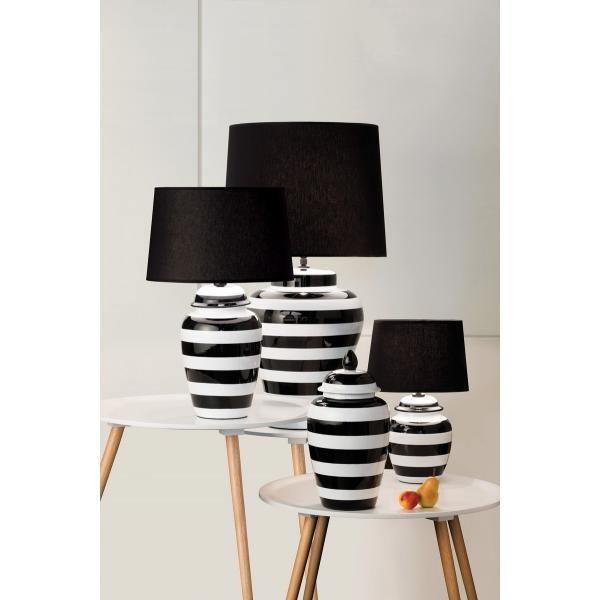 Lighting Australia 926 Pepper Black And White Stripe Vase