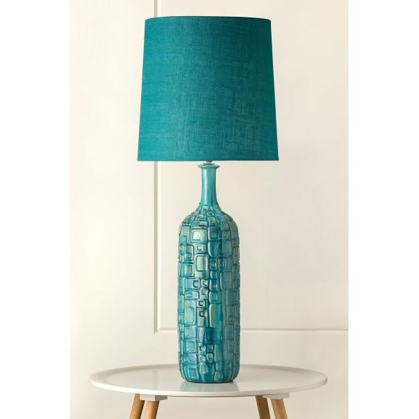 Lighting australia 918 clyde retro turquoise textured porcelain 918 clyde retro turquoise textured porcelain table lamp aloadofball