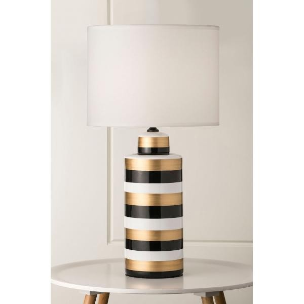 Lighting australia 936 shae white gold and black ceramic table 936 shae white gold and black ceramic table lamp aloadofball Image collections