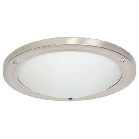 Popular Choice Of Available Sizes Clear&ampcomma Frosted Glass Panel&ampcomma Satin Nickelfinished Clips Versatile Wall Mounting Directs Light Outward Requires 9watt 3000K LED Bulbs &amplparincluded&amprpar 13W X 2D X 55H In 3275W X 2D X 55H