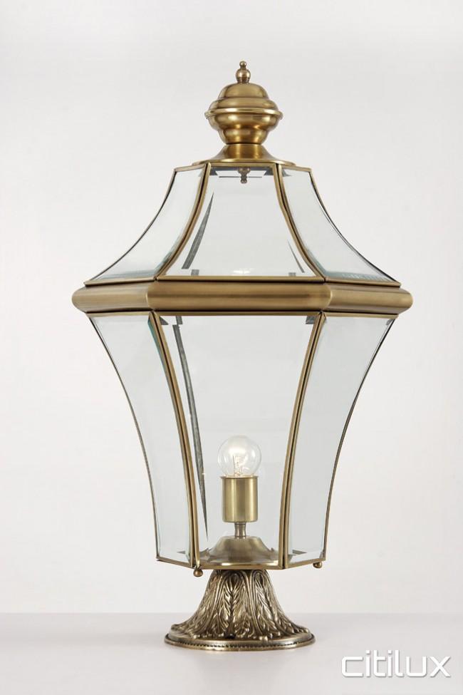 Lighting australia mount pritchard classic outdoor brass for Landscape pillar lighting