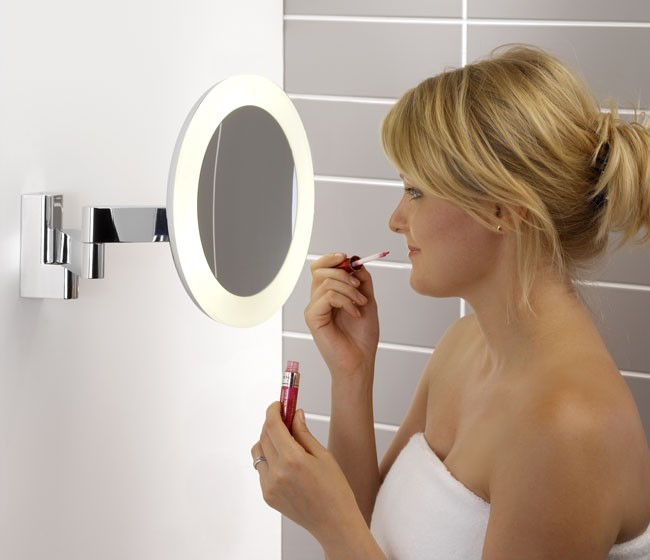NIIMI ROUND Bathroom Magnifying Mirrors 0760 Astro Zoom