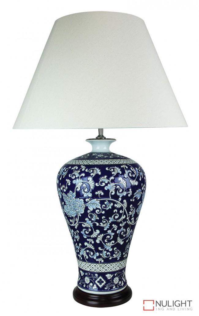 Lighting Australia Yanmei Chinese Ceramic Table Lamp With Shade Ori Nulighting Com Au