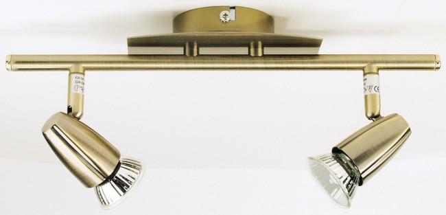 lighting australia ting 2 light spotlight in antique brass oriel