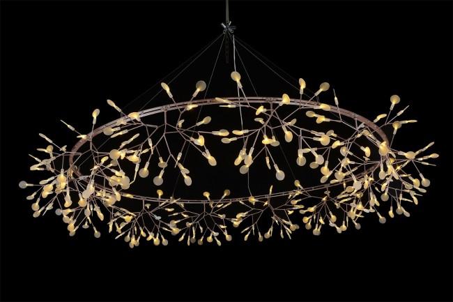 replica lighting. Replica Moooi Heracleum The Big O Suspension Light 160cm - Copper Pendant Citilux Lighting P