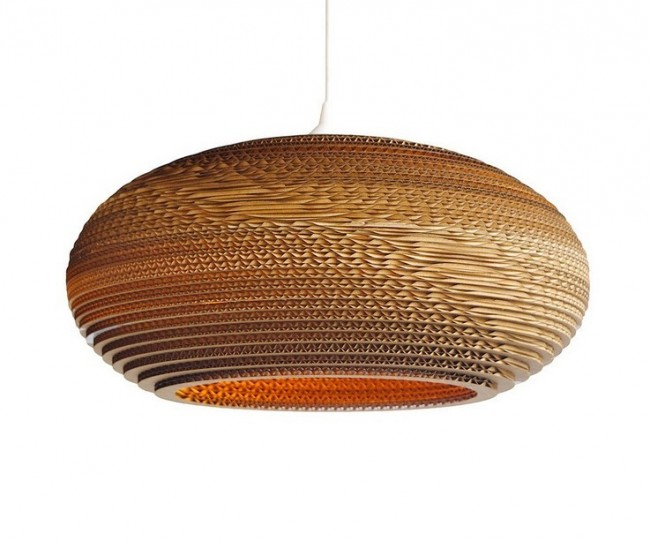 Lighting Australia Replica Recycled Cardboard Pendant Lights Disc - Pendant loghts