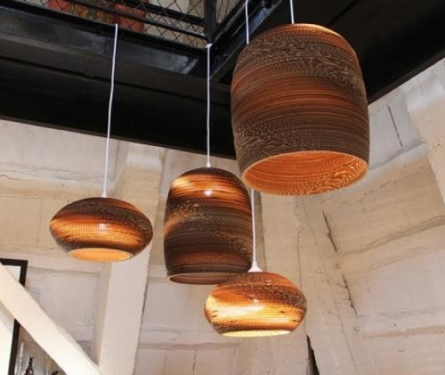 lighting australia replica recycled cardboard pendant lights disc