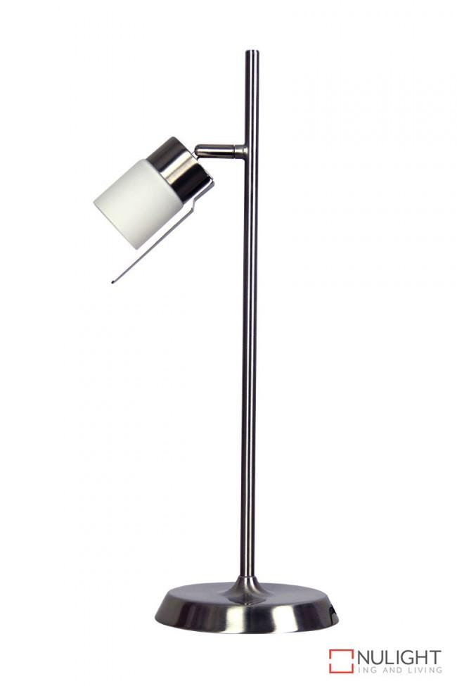 Lighting Australia Siri Touch Lamp Brushed Chrome Gu10