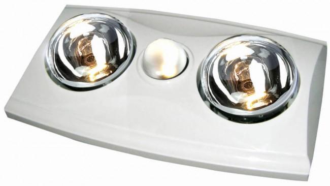 Lighting Australia Eko 2 Energy Saving Bathroom Heat Lamp And Exhaust Fan With Side Ducting
