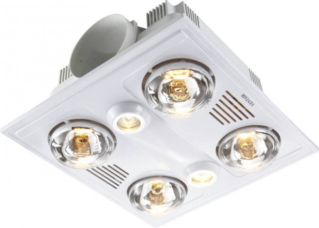 Garrison 4 High Airflow Bathroom Heat Lamp And Exhaust Fan VentAir