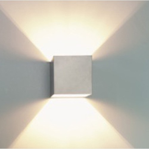 lighting australia g9 square up down wall light in silver vibe lighting. Black Bedroom Furniture Sets. Home Design Ideas