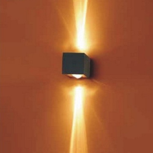 Black Square Wall Lights : Lighting Australia Surface Mounted GY6.35 LV Halogen Up / Down Square Wall Light in Black Vibe ...