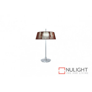 Paolo 2 Light Table Lamp Choc VAM