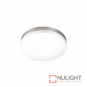 Aurora 22W T5 Ceiling Light Brushed Chrome With Opal Glass BRI