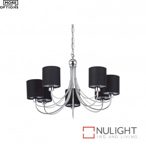 Figaro Light Pendant Chrome With Shade BRI